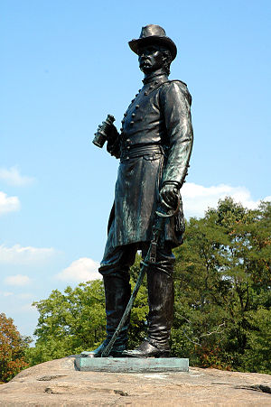 Gouverneur K. Warren - Gerhardt's statue of Warren on Little Round Top in Gettysburg
