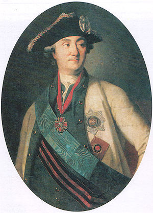 Alexei Grigoryevich Orlov - Oval portrait of Alexei Orlov by Carl-Ludwig Christinek, 1779