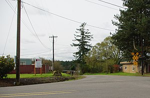 Mulloy, Oregon - Intersection of Grahams Ferry Road and Clutter Road at Mulloy