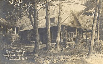 Chesterfield, New Hampshire - Image: Granite Cottage, Spofford Lake, Chesterfield, NH