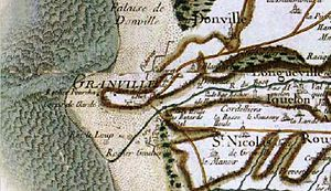 Granville, Manche - Granville on the Cassini map