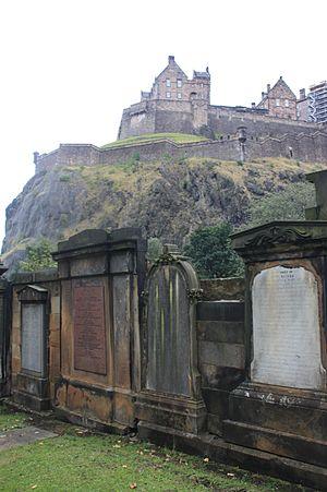 David Rhind - Grave of David Rhind (centre), St Cuthberts, Edinburgh