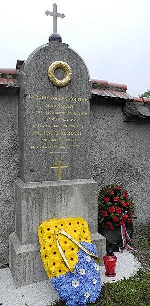 Jernej Kopitar - Grave of Jernej Kopitar in Navje memorial park in Ljubljana.