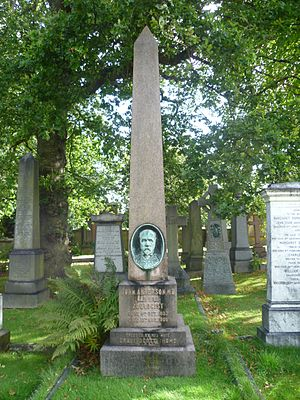 John Anderson (zoologist) - Anderson's grave in Edinburgh