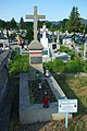 Grave of Kazimierz Swoszowski with national colors decorated (2020)a.jpg