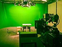 Green screen in the TV studio