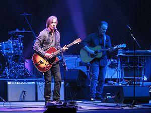 Greg Leisz - Leisz playing guitar with Jackson Browne (left) in Greenville, South Carolina, 2015