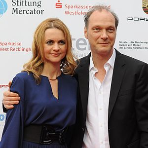 Martin Brambach - Brambach with Christine Sommer at the Grimme-Preis 2014