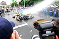 Group of protesters sprayed by water cannons in Taipei, Taiwan on April 28, 2014.jpg