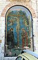 Guido palmerucci, crocifissione e dolenti nel tabernacolo di piazza quaranta martiri a gubbio, 1300-40 ca. 01.JPG