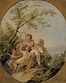Guillaume Taraval - Four amorins playing with a birdcage - S 124 - Finnish National Gallery.jpg