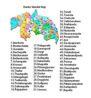 Guntur district - Guntur District Mandal Map
