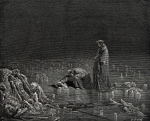 Dante speaks to the traitors in the ice, Infer...