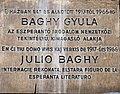 Gyula Baghy plaque Budapest07.jpg