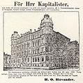 Håvanders annons om försäljning av Östermalmsgatan 48 i Dagens nyheter den 15 juli 1889.jpg