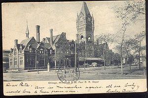 Everett Street Depot - Everett Street Depot on an old postcard