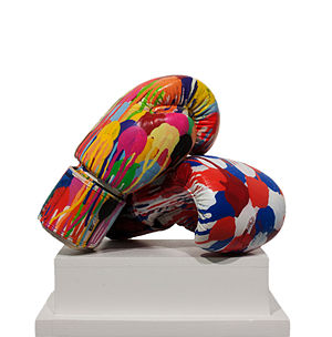 Omar Hassan (artist) - Omar Hassan, Glove Save the Queen, Mixed media, 25x17 cm