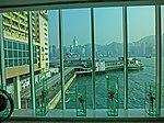 HK 尖沙咀 TST 海港城 Harbour City glass wall window view Victoria Harbour Star Ferry Piers Mar-2013.JPG