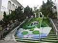 HK 尖沙咀 TST Nathan Road Kln Park stairs painting picture 柏麗購物大道 Park Lane Shopper's Boulevard Nov-2015.JPG