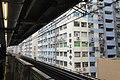 HK MTR 觀塘站 Kwun Tong Station train platform view nearby factory building facades January 2019 IX2.jpg