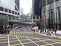 HK tram view Admiralty 金鐘道 Queensway 長江集團中心 Cheung Kong Center near Garden Road footbridge January 2019 SSG 01.jpg