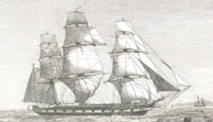 HMS Eurydice (1843) - HMS Atalanta. 1880