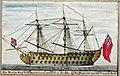 HMS Victory commanded by Sir John Lindsay 1778 (maritime journal of Robert Raymond) 092631.jpg