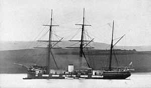 HMS Wivern in 1865