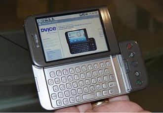 Android (operating system) - HTC Dream or T-Mobile G1, the first commercially released device running Android (2008).
