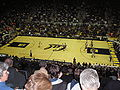 Haas Pavilion court from upper bleachers 1.JPG