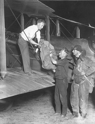 Hadley Field - Image: Hadley Field first arrived bag of overnight airmail