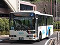 Hakone Tozan Bus B986 100th Anniversary and Out of Service Sign.jpg