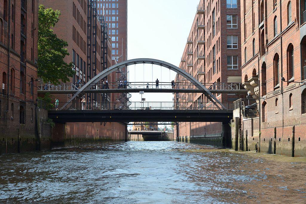 Puente Barkassenfahrt, Hamburgo (Alemania).