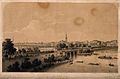 Hamburg, Germany; general panoramic view. Tinted lithograph Wellcome V0012725.jpg