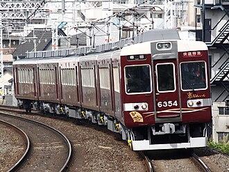 Hankyu Kyoto Main Line - Hankyu 6300 series EMU on a limited express service