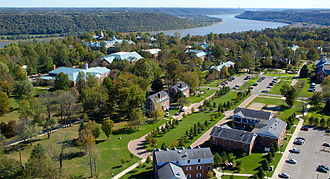 Hanover College - Hanover College's campus overlooking the Ohio River