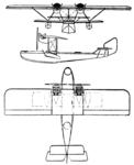 Hanriot H.38 3-view Le Document aéronautique April,1926.png