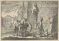 Hans Georg von Arnim-Boitzenburg ontsnapt met een touwladder uit de gevangenis van Stockholm, 1637, RP-P-1896-A-19368-1447.jpg