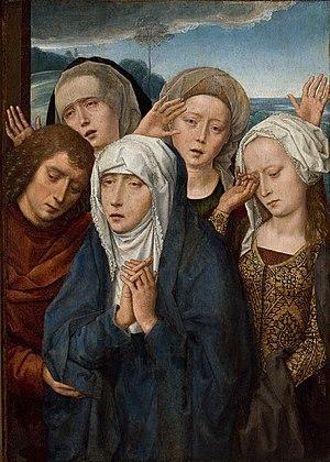 Virgem em lamentação, são João e as pias mulheres da Galileia