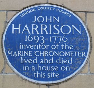 Longitude (book) - A blue plaque marks the location at Red Lion Square (the original house was demolished) where Harrison lived and died.