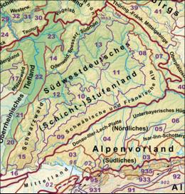 Nordfranzösisches Becken südwestdeutsches stufenland
