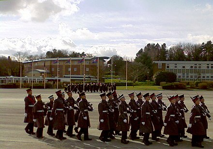 Recruits practicing drill on Catterick parade square Helles Barracks Parade Ground - geograph.org.uk - 1192460.jpg
