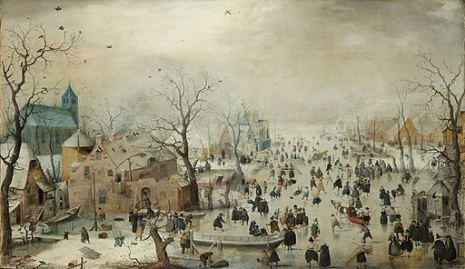 Hendrick Avercamp - Winterlandschap met ijsvermaak