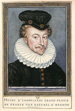 Henri d'Angoulême - Portrait engraving of Henri d'Angoulême