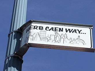 Herb Caen - Image: Herb Caen Way Street Sign San Francisco