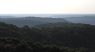 Indiana - Rolling hills in the Charles C. Deam Wilderness Area of Hoosier National Forest, located in the Indiana Uplands.