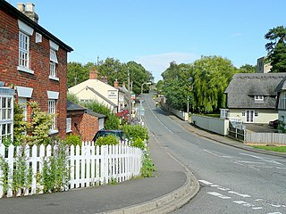 Thurleigh village in the United Kingdom