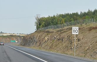 Speed limits in Canada - 110 km/h speed limit on the Trans-Canada Highway in New Brunswick