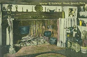 John Whipple House - Image: Historical House Kitchen, Ipswich, MA