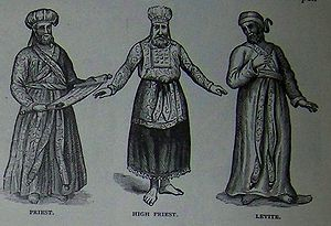 Priest, High Priest, and Levite, illustration ...